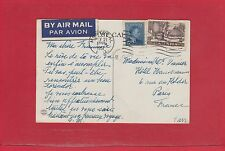 1951 Montreal air mail post card George VI to FRANCE from Canada