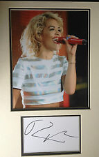 RITA ORA - CHART TOPPING SINGER - EXCELLENT SIGNED COLOUR PHOTO DISPLAY