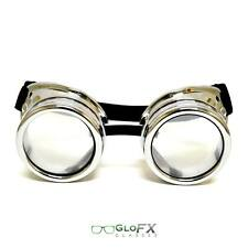 GloFX Diffraction Goggles Cyber Steampunk Punk raver gothic rainbow FX lenses 3D