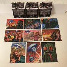 THE ILLUSTRATED WAR OF THE WORLDS Cult-Stuff 2016 Complete 9-CARD SET + P1 P2 P3