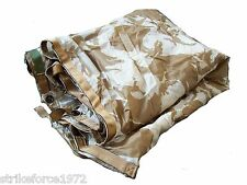 NEW - Genuine UK Army Issue DESERT CAMO Waterproof Shelter Sheet ( Basha )