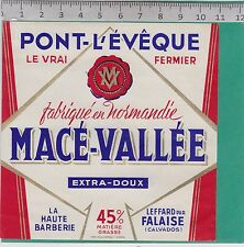 K320 FROMAGE PONT L EVEQUE MACE-VALLEE LEFFARD FALAISE CALVADOS