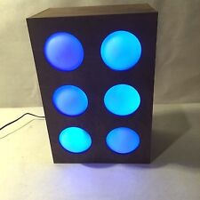 Vtg Lighted Wooden Box Changing Colors LED Disco Night Light Lamp Halloween Ball