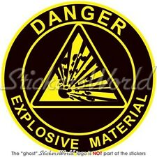 """EXPLOSIVE MATERIAL Explosion Danger Safety Warning Sign 75mm (3"""") Sticker Decal"""