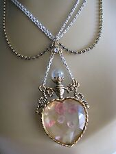 RARE BETSEY JOHNSON FAIRYLAND CRYSTAL HEART BOTTLE PENDANT NECKLACE