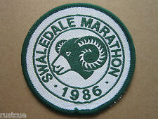 Swaledale Marathon 1986 Walking Hiking Woven Cloth Patch Badge
