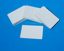 Cartes-environ 100 white blank cards pour fabrication carte, business, enseignement, id, apprendre.