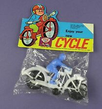 Plastic Motorcycle & Rider Toy Set - c1960/70s Mint in Pack