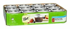 Ball Mason 4oz Quilted Jelly Jars with Lids and Bands, Set of 12 New