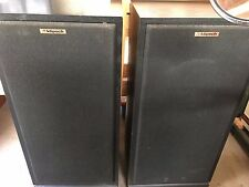 Klipsch forte II speakers black vintage  ALL ORIGINAL 1987