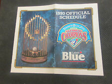 TORONTO BLUE JAYS 1993 OFFICIAL SCHEDULE AND 1992 WORLD CHAMPIONS +MORE
