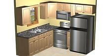 All Wood KITCHEN CABINETS 8x8 RTA Deluxe Oak -LH