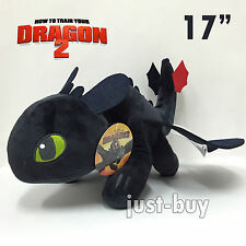 "How to Train Your Dragon Plush Toothless Night Fury Soft Toy Doll Teddy 17"" BIG!"