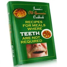 OLD AGE OAP NO TEETH RECIPE COOK BOOK - NOVELTY FUNNY CHRISTMAS JOKE GIFT BB1001