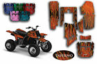 """Yamaha Banshee Pink Flames for White or Black fenders """"Inferno"""" Graphics Kit"""