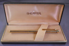 Sheaffer Slim Targa Gold Fountain Pen-Straight line-STUB-NEW OLD STOCK