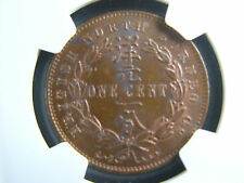 1 cent 1889H British North Borneo NGC MS-62 BN one copper coin 1¢ 1c