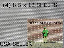 """BRICK STYRENE SHEETS (4)  8.5"""" X 12""""  WHITE - MODEL GRADE"""
