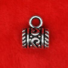 8 x Tibetan Silver Hanger Necklace Connector Charm Pendant Finding Bead Making