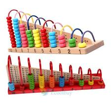 Colorful Large Wooden Bead Traditional Abacus Maths Educational Kids Child Toys