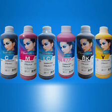 1 litre of each ( 6 bottles ) C,M,Y,K,LC,LM -  InkTec Sublimation inks £48 each