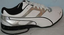 PUMA TAZON 6 ATHLETIC SNEAKERS WHITE/SILVER/BLACK MEN RUNNING SHOES SIZE 8.5