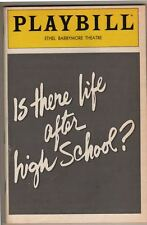 """Is There Life After High School?""  FLOP  Playbill 1982  PREVIEW  Harry Groener"