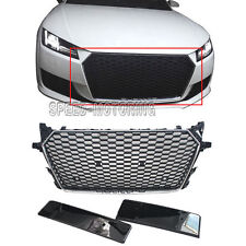 TTRS Style Front Grill Honeycomb Grilles Silver Frame fit for Audi TT 2015-2016