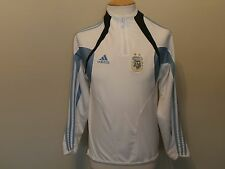ARGENTINA NATIONAL TEAM ADIDAS WHITE SOCCER LONG-SLEEVE WARM-UP TOP MEN S
