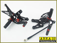06-2007 Kawasaki Ninja ZX-10R Area 22 Adjustable Rear Sets Black Rearsets ZX10R