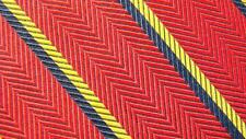 BROOKS BROTHERS RED DARKBLUE YELLOW STRIPE SILK NECKTIE TIE MSE2416C #P20