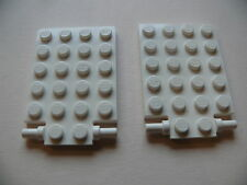 Lego 2 trappes blanches set 10243 4209 4645 / 2 white plate modified trap door