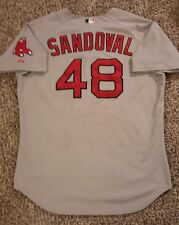 2015 Pablo Sandoval Game Used Red Sox Tarp Catch Jersey! MLB Holo! Giants!