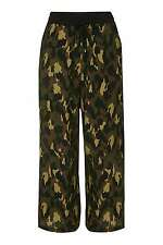 Topshop Camo Print Camouflage Wide Leg Drawstring Trousers BNWT UK 10 £32 Ankle
