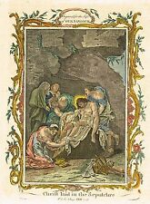 """Fleetwood's """"Life of Our Saviour"""" - """"CHRIST LAID IN SEPULCHRE"""" - H/C Eng. -1770"""