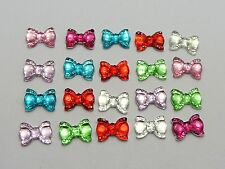 200 Mixed Color Flatback Bowknot Bows Rhinestone Gems 10X7mm Embellishments