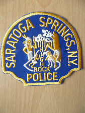 Patches- SARATOGA SPRINGS HIGH ROCK NEW YORK NY POLICE PATCH (NEW, apx.4.12x3.8