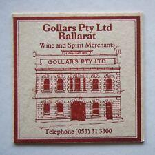 GOLLARS PTY LTD BALLARAT WINE AND SPIRIT MERCHANTS 053 313300 COASTER