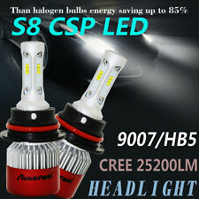 CREE 3-side 9007 25200LM LED Headlight Kit Hi/L Beam HB5 Bulbs 6000K For ford US