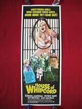 HOUSE OF WHIPCORD *1974 ORIGINAL MOVIE POSTER INSERT ROLLED SEX HORROR HALLOWEEN