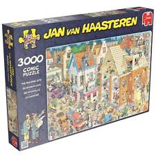 JUMBO JIGSAW PUZZLE THE BUILDING SITE JAN VAN HAASTEREN 3000 PCS CARTOON #17462
