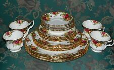Vintage Royal Albert England OLD COUNTRY ROSES 4 X 5 Pc Place Settings 20 Pc's
