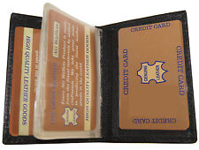 Slim Leather 2 ID Driver's Licence Credit Card Plastic Insert Bifold Wallet Safe