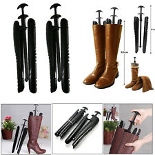 1 Pairs Lady Women Automatic Black Boot Trees / Shapers With Handle 12.5 inch UK