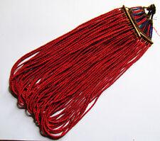 Ancien Large Collier Naga Rouge Ethnie Nagaland Inde du Nord