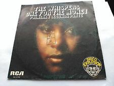 SINGLE THE WHISPERS - ONE FOR THE MONEY - SOUL TRAIN/RCA SPAIN 1976 VG/VG+