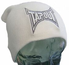 Tapout White Mens Slouch Beanie Oversized Man Hat BNWT New Boarding MMA UFC BJJ
