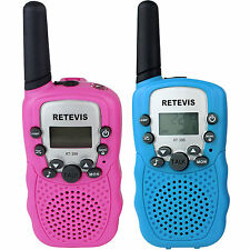 Toy For Kids Walkie Talkie Retevis RT-388 UHF 2-Way Radio Blue+Pink Christmas