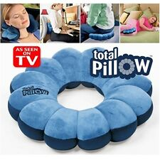 Blue Comfort Total Pillow Travel Pillow Twist Neck Back Head Cushion Seen On Tv
