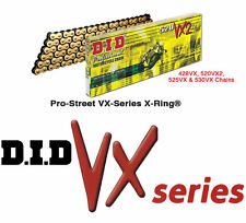 DID VX Gold Heavy Duty X-Ring Chain 530 114 Link Suzuki GSXR1000 2009-2015